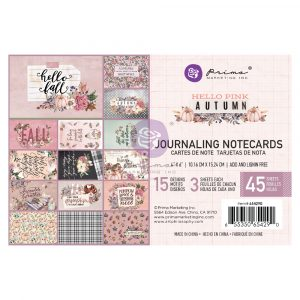 Hello Pink Autumn Collection 4X6 Journaling Cards - 45 sheets
