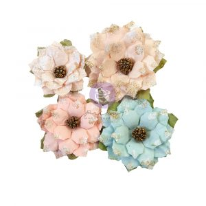 """Christmas Sparkle Collection Flowers - Sparkly Jolly - 4 pcs / 2-3"""""""