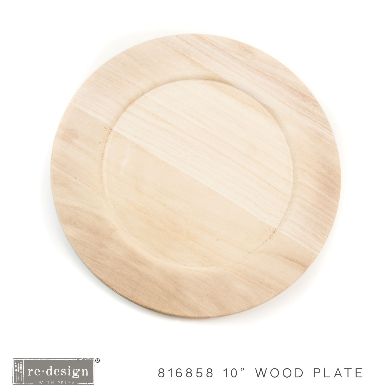 "Paulownia Wood Charger 10"" - 1 tray, 10"" diameter"