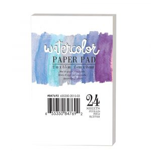"2""x3.5"" Watercolor Paper Pad 24pc 140lbs cold press"