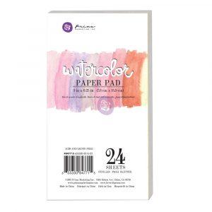 "3""x6.25"" Watercolor Paper Pad 24pc 140lbs cold press"