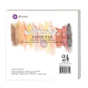 "6""x6"" Watercolor Paper Pad 24pc 140lbs cold press"