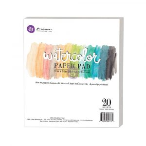 "8""x8"" Watercolor Paper Pad 20pc 140lbs cold press"