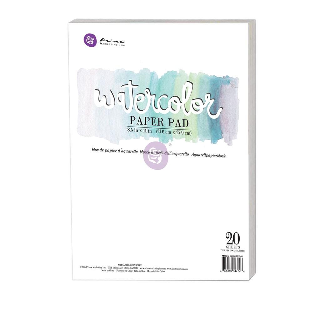 "8.5""x11"" Watercolor Paper Pad 20pc 140lbs cold press"