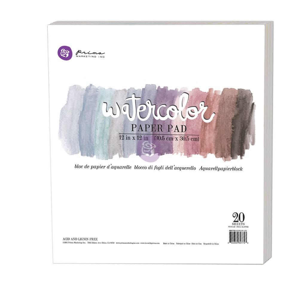 "12""x12"" Watercolor Paper Pad 20pc 140lbs cold press"