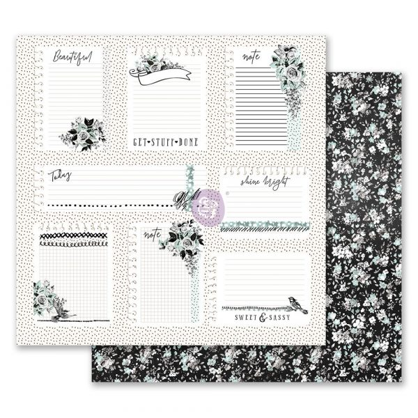 Flirty Fleur 12x12 Paper - Little Notes