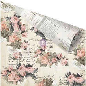 Vintage Floral 12x12 Paper - Pink Promises