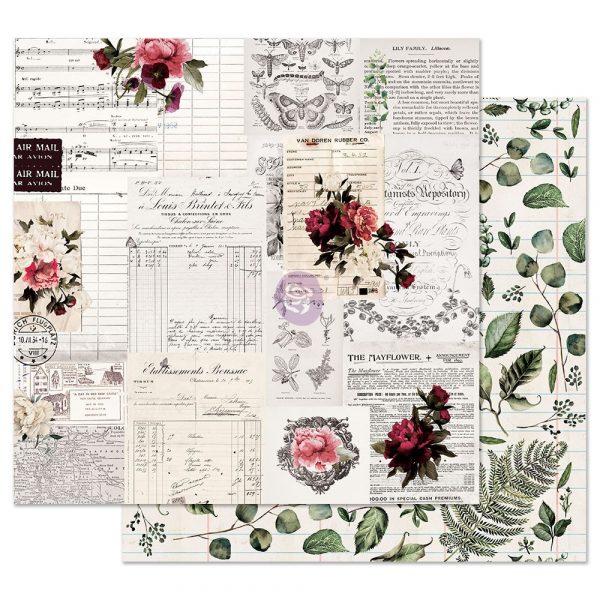 Midnight Garden 12x12 Sheet - Rose receipts