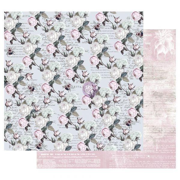 Poetic Rose 12x12 Sheet - Buzz Words