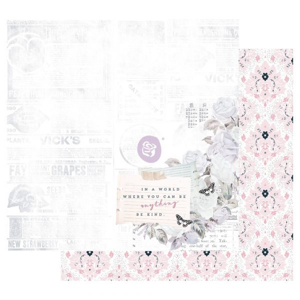 Poetic Rose 12x12 Sheet - Kindness Takes Over