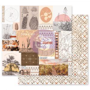 Golden Desert Collection 12x12 Sheet - My peaceful place - 1 sheet w/ foil details
