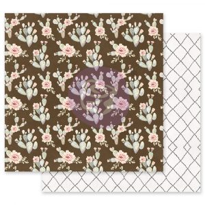Golden Desert Collection 12x12 Sheet - Desert Blooming - 1 sheet w/ foil details
