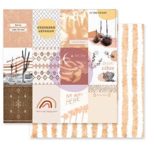 Golden Desert Collection 12x12 Sheet - Just Go With It - 1 sheet w/ foil details