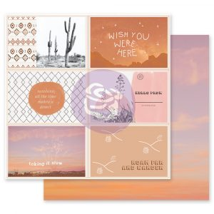Golden Desert Collection 12x12 Sheet - Wish you were here - 1 sheet w/ foil details