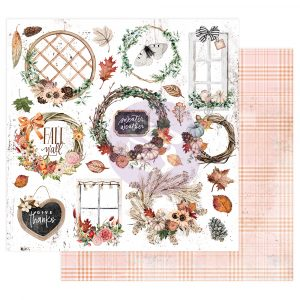 "Pumpkin & Spice Collection 12x12 Sheet - Sweater Weather - 12"" x 12.5"", foil details"