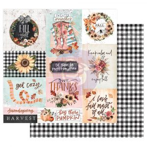 "Pumpkin & Spice Collection 12x12 Sheet - Get Cozy - 12"" x 12.5"", foil details"