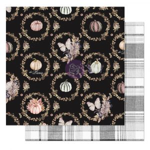 """Hello Pink Autumn Collection 12x12 Sheet - Give thanks - 1 sheet, 12""""x12"""" with foil detail"""