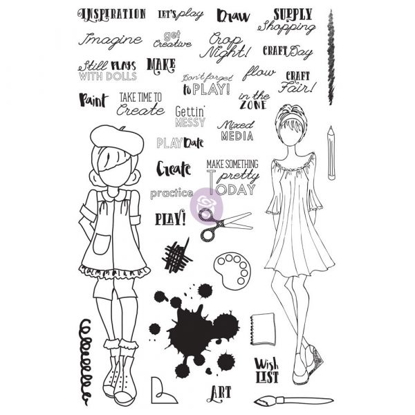 """JN Planner Clear Stamps - """"Craft Day"""""""