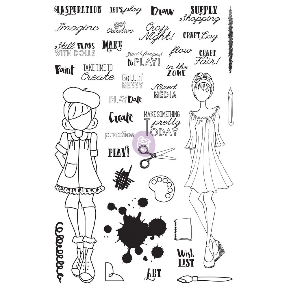 "JN Planner Clear Stamps - ""Craft Day"""
