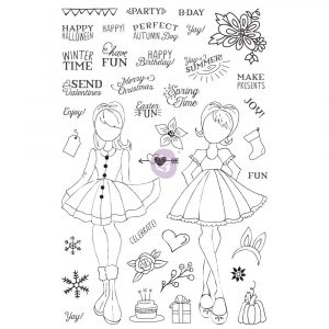 "JN Planner Clear Stamp - ""Holiday Bliss"""