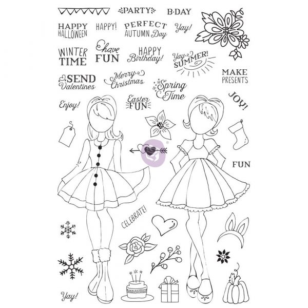 """JN Planner Clear Stamp - """"Holiday Bliss"""""""