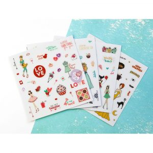 JN Planner Embellishments - Clear Matte Stickers