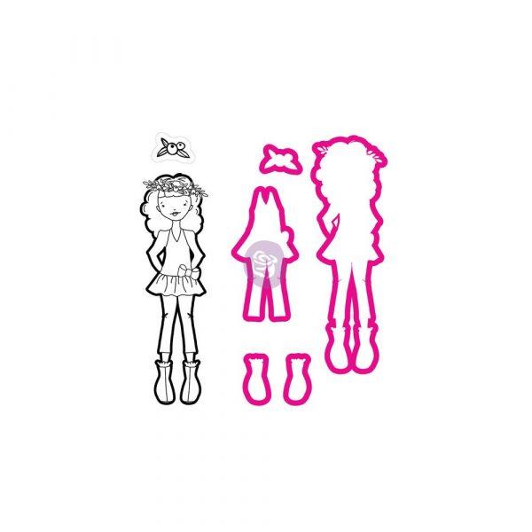 JN Doll Stamp & Dies - Violet