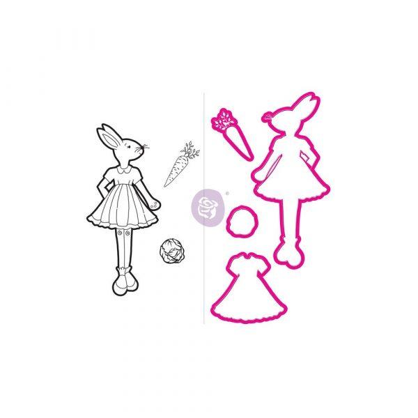 JN Doll Stamp & Dies - Bunny