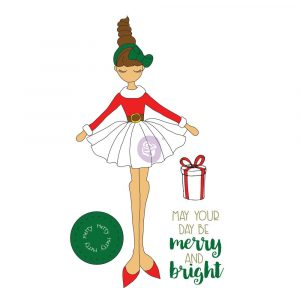 JN Christmas Stamp Merry Doll
