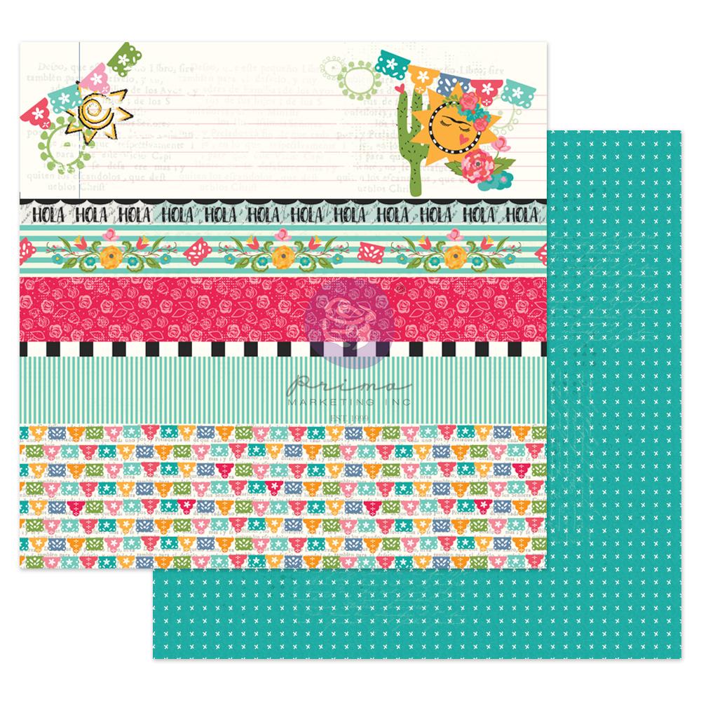 "Julie N Solecito Collection 12x12 Sheet - Hola Bonita - 1 sheet, 12""x12"" with foil detail"