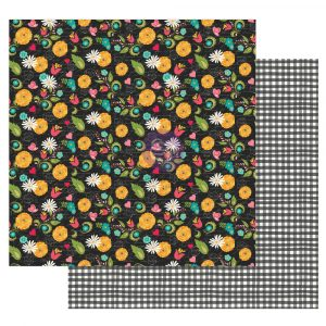 """Julie N Solecito Collection 12x12 Sheet - Sweet Floral - 1 sheet, 12""""x12"""" with foil detail"""