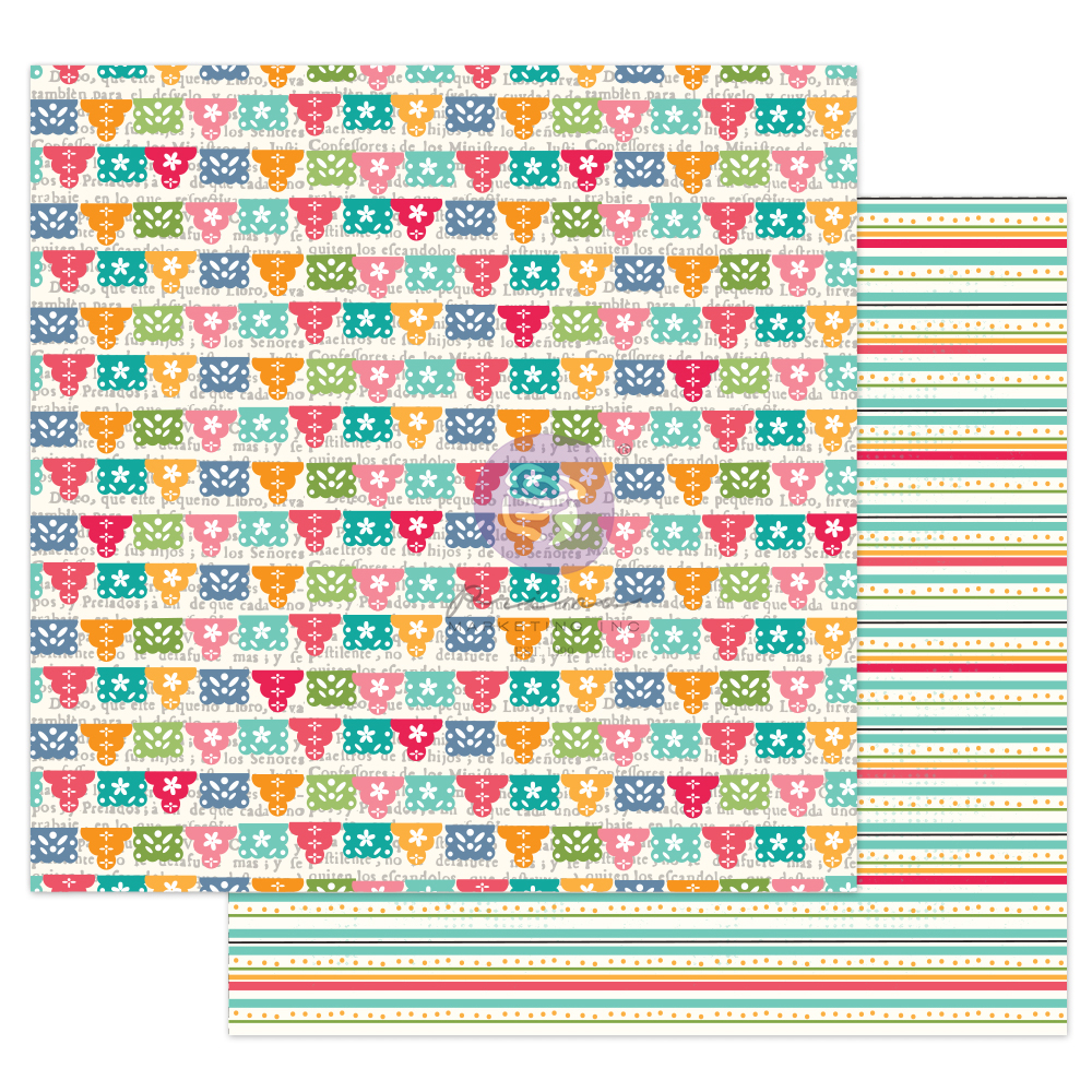 """Julie N Solecito Collection 12x12 Sheet - Papel Picado - 1 sheet, 12""""x12"""" with foil detail"""