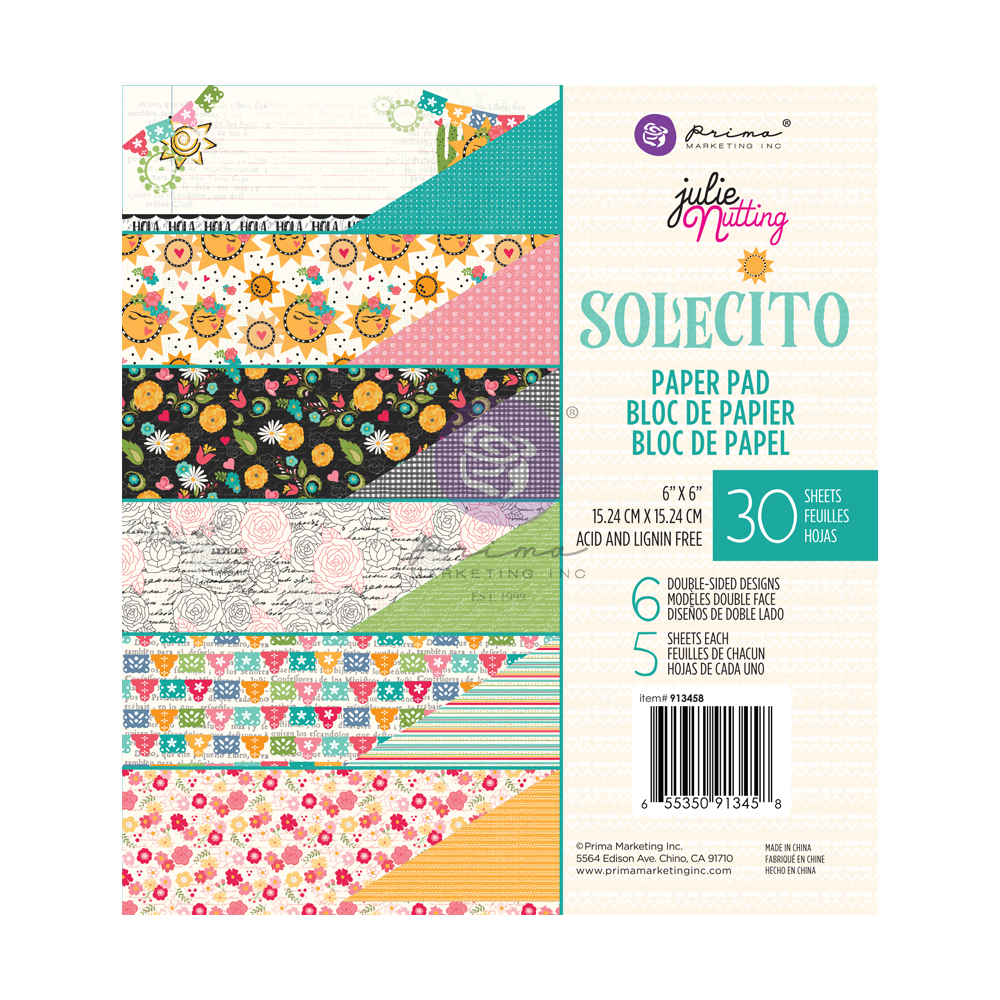 Julie N Solecito Collection 6x6 Pad - 30 sheets