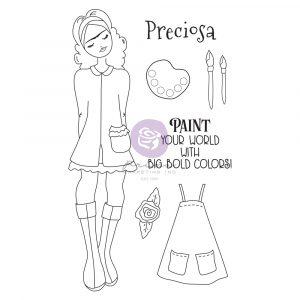 Julie N Doll Stamp - Frida - 7 pcs