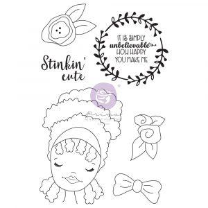 Julie N Doll Stamp - Jamila - 6 pcs