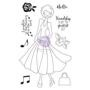 Julie N Doll Stamp - Kamirah - 9 pcs