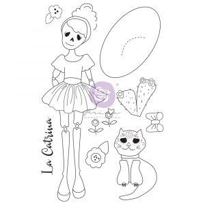 Julie N Doll Stamp - La Catrina - 9 pcs