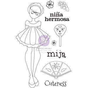 Julie N Doll Stamp - Mija - 9 pcs
