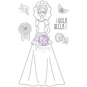 Julie N Doll Stamp - Milagros - 6 pcs