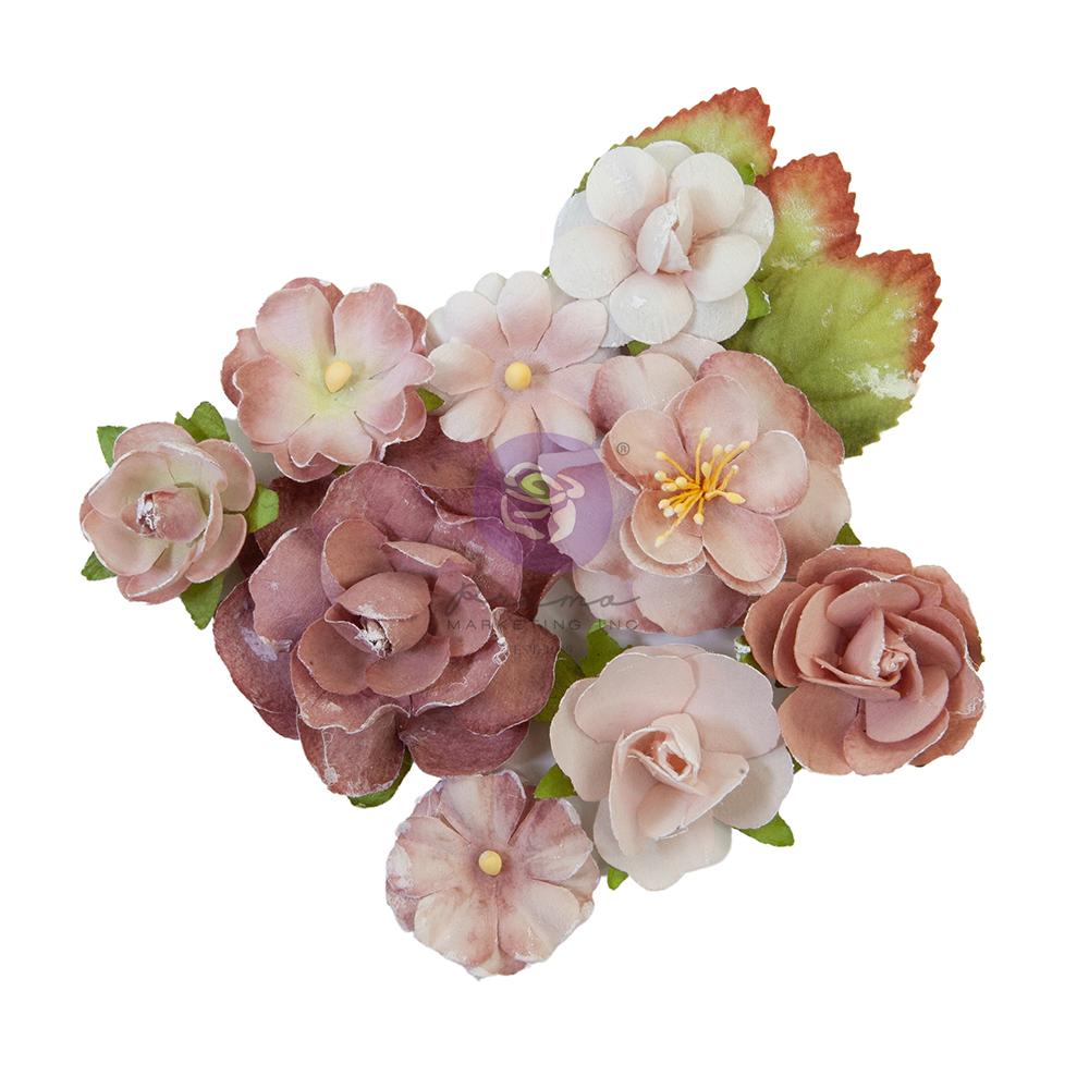 """Sharon Ziv Collection Flowers - Mauve Dream - 12 pcs / 1.25-2.2"""""""