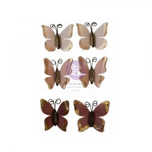 """Sharon Ziv Collection Flowers - Butterfly Chase - 6 pcs / 2"""""""