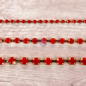 Rhinestone Chain pack - Ruby