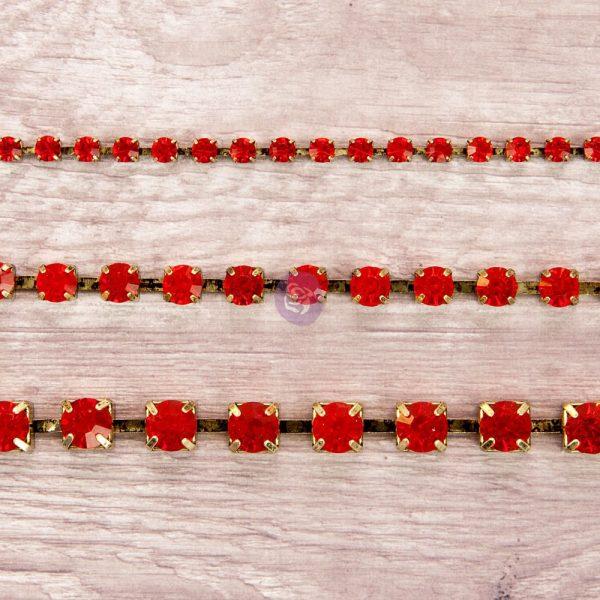 Rhinestone Chain pack - Ruby