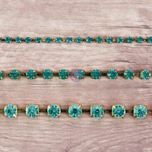 Rhinestone Chain pack - Aquamarine