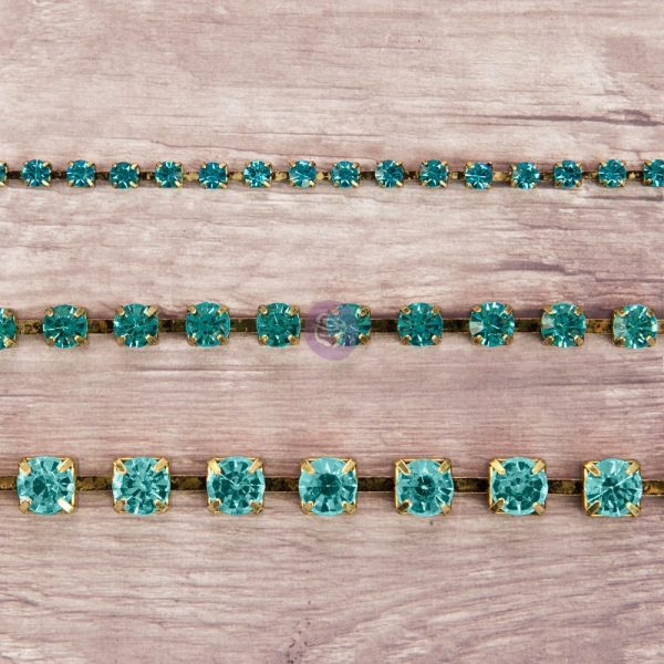 Rhinestone Chain pack - Aquamarine