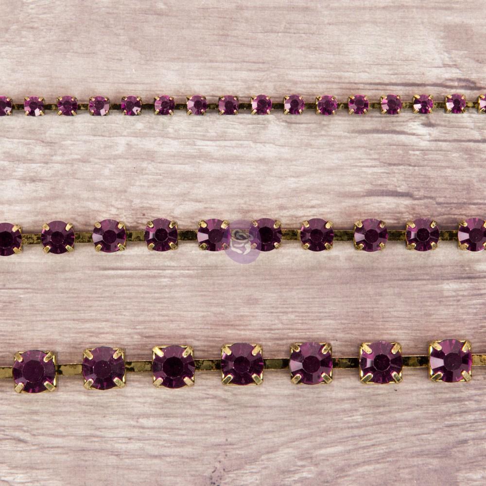 Rhinestone Chain pack - Amethyst