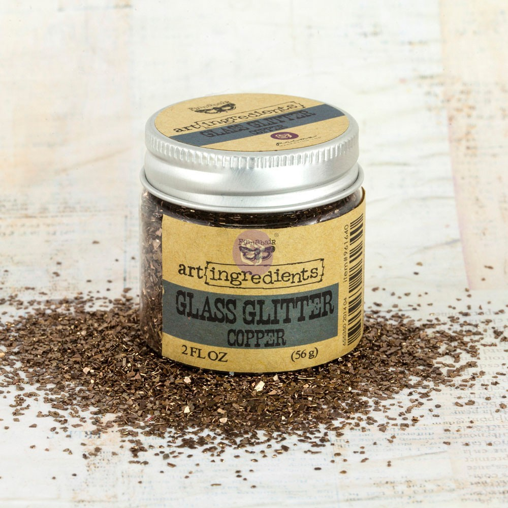 Art Ingredients-Glass Glitter: Copper 56g