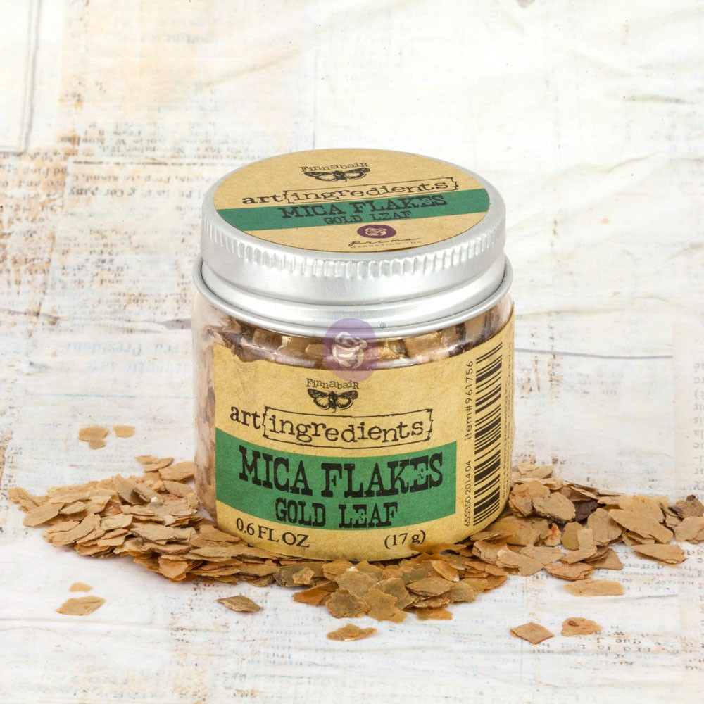 Art Ingredients-Mica Flakes: Gold Leaf 17g