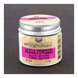 Art Ingredients-Mica Powder: Pale Silver 17g