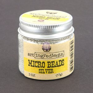 Art Ingredients-Micro Beads: Silver 57g